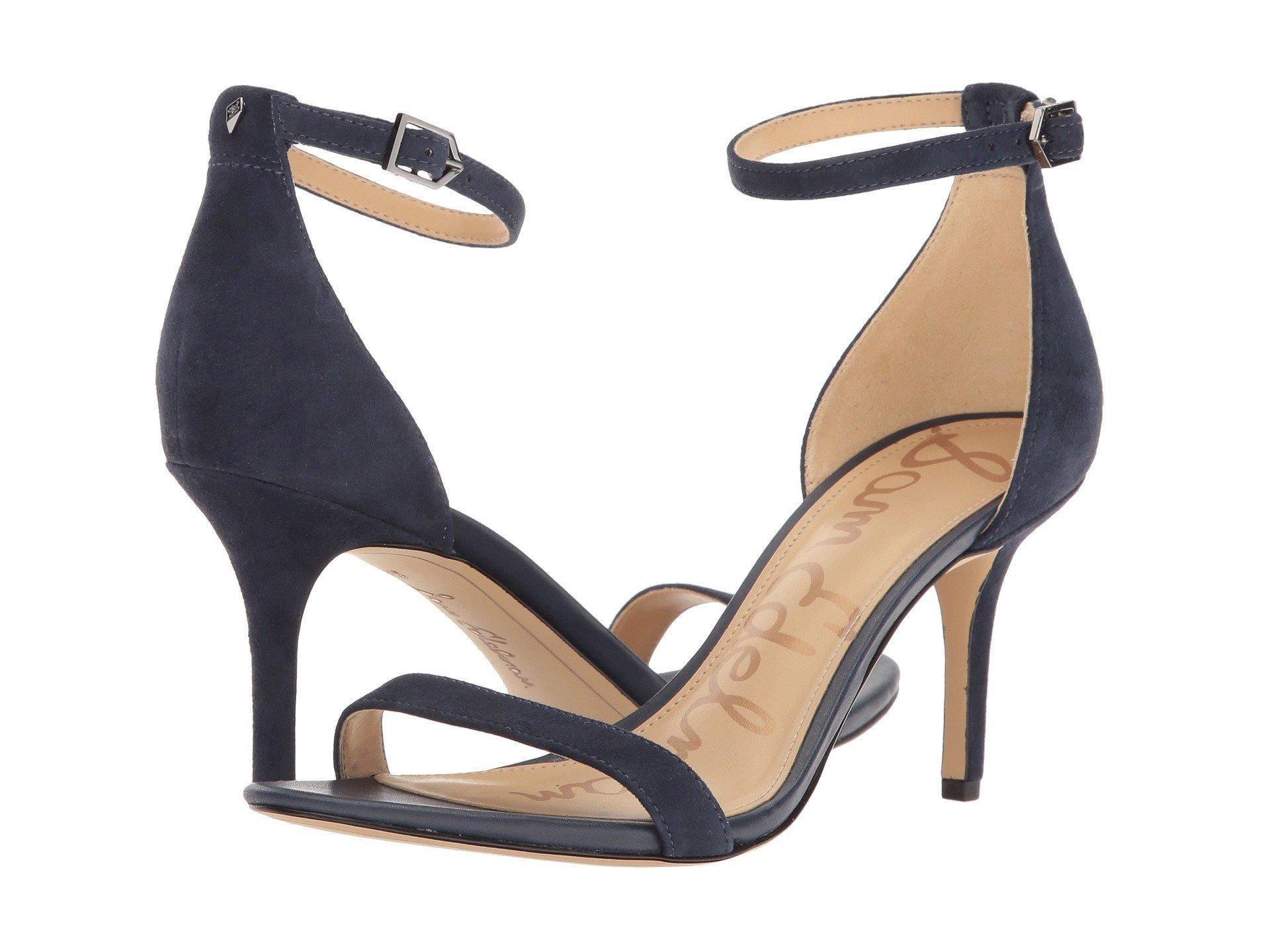 92ba4bf71bf7f7 Sam Edelman Patti Leather Ankle-Strap Sandal In Black