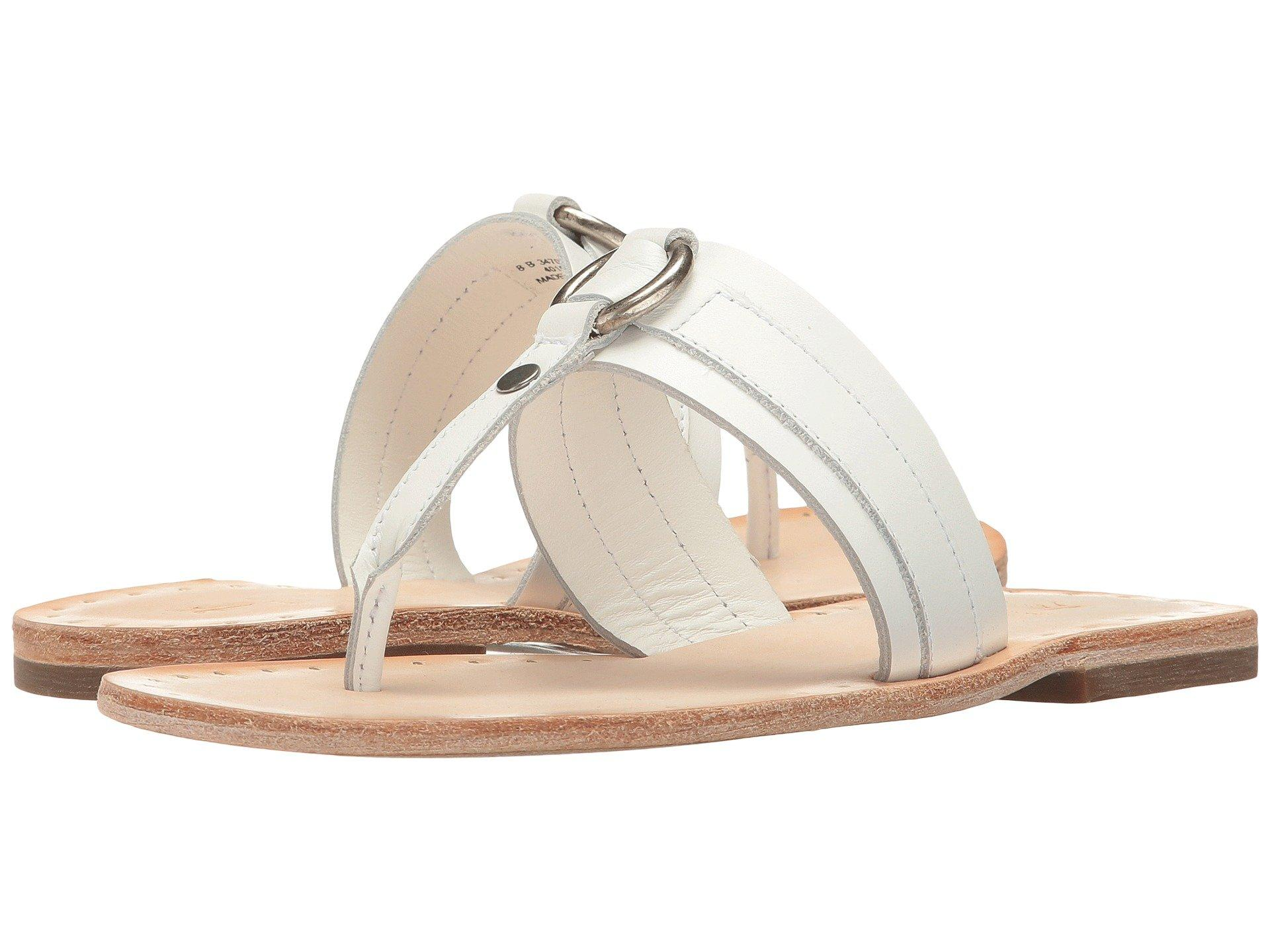 8bcaa67f0 Frye Avery Harness Thong, White Smooth Polished Full Grain   ModeSens