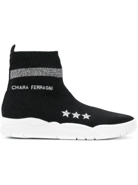 Chiara Ferragni Damenschuhe Damen Schuhe High Sneakers  Active In Black