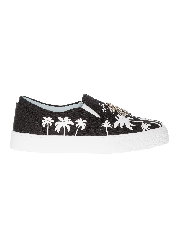 Chiara Ferragni White/black Leather Slip On Sneakers In Black,white