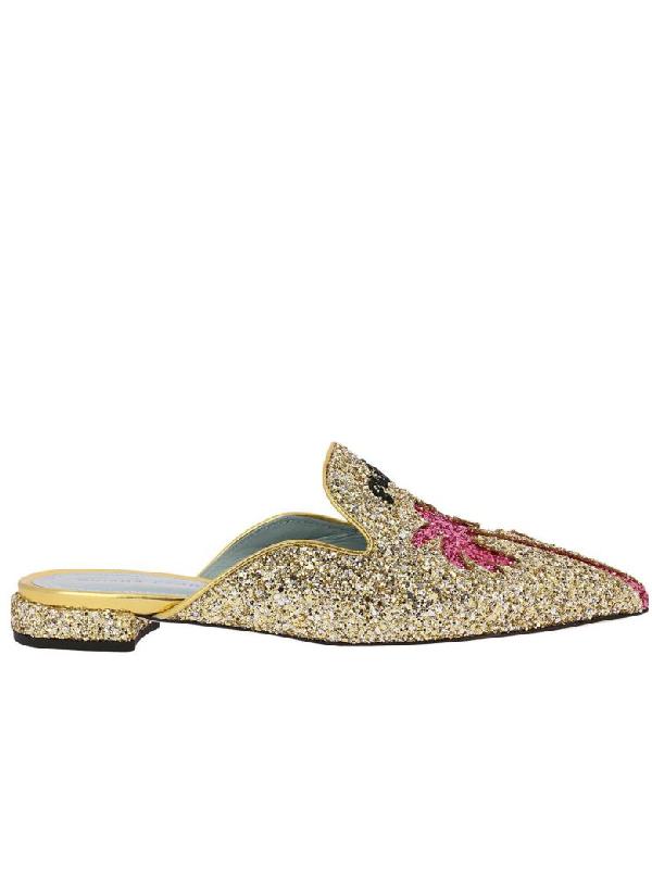 Chiara Ferragni Ballet Flats Shoes Women  In Gold