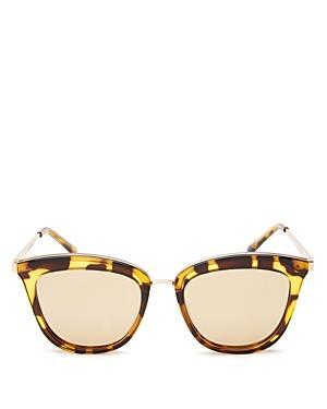 b0217a6584 Le Specs Women s Caliente Mirrored Cat Eye Sunglasses