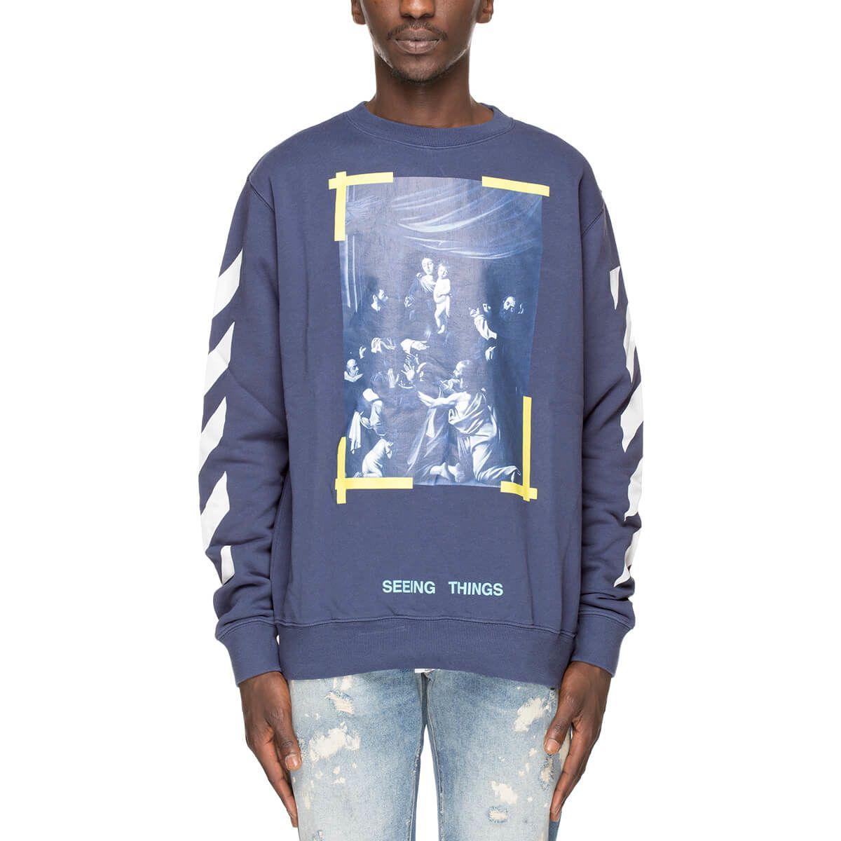 68a3431f9 Off-White Caravaggio Sweatshirt In Blue | ModeSens