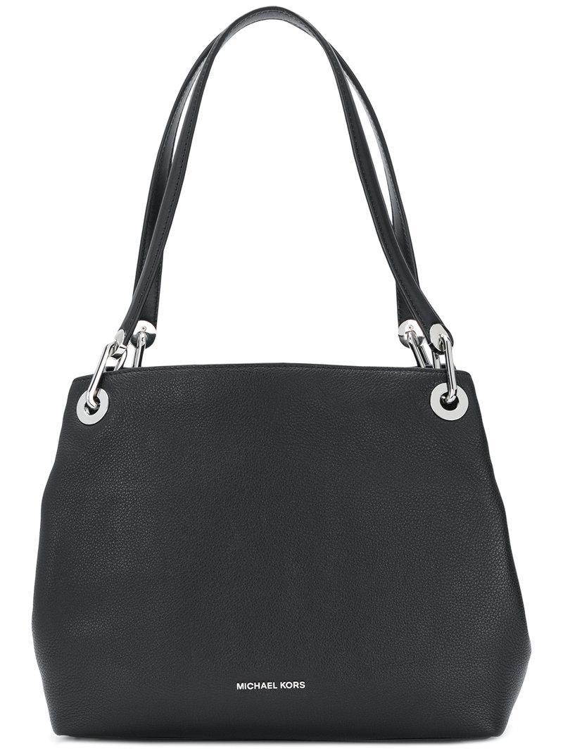 a9ca3cf21941 Michael Michael Kors Raven Large Shoulder Bag - Black | ModeSens
