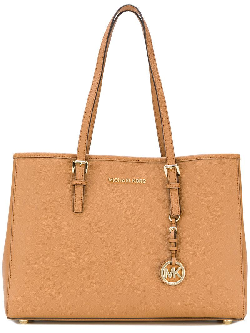 2829963a0d6c MICHAEL MICHAEL KORS. Michael Michael Kors Jet Set Travel Tote - Farfetch  in Neutrals