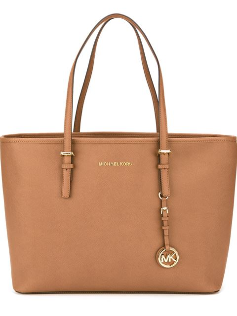 Michael Michael Kors Jet Set Travel Medium Tote Bag In 230 Luggage