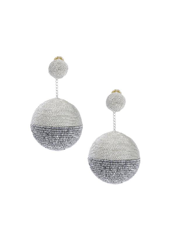 Rebecca De Ravenel Disco 2 Drop Earring In Silver