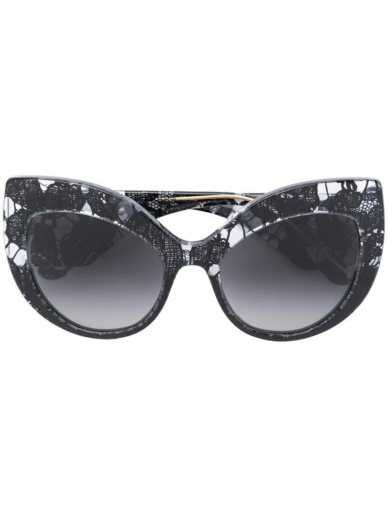 1a240acafedd Dolce   Gabbana Eyewear Oversized-Sonnenbrille Mit Cat-Eye-Gestell -  Schwarz In. Farfetch