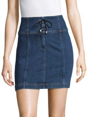 82397f0a8c Free People Modern Femme Corset Skirt In Blue | ModeSens