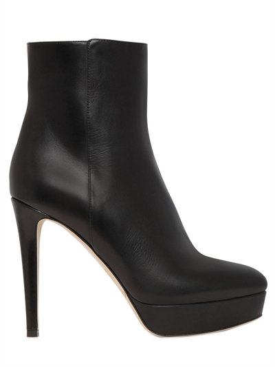 Jimmy Choo 115mm Maggie Leather Ankle Boots, Black