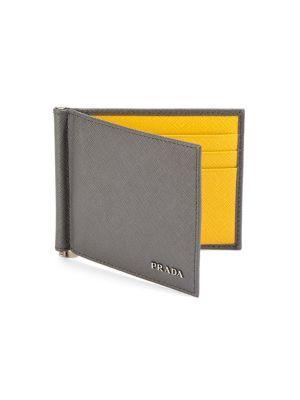 96935f8c66e34a Prada Money Clip Wallet In Nero Fuoco   ModeSens