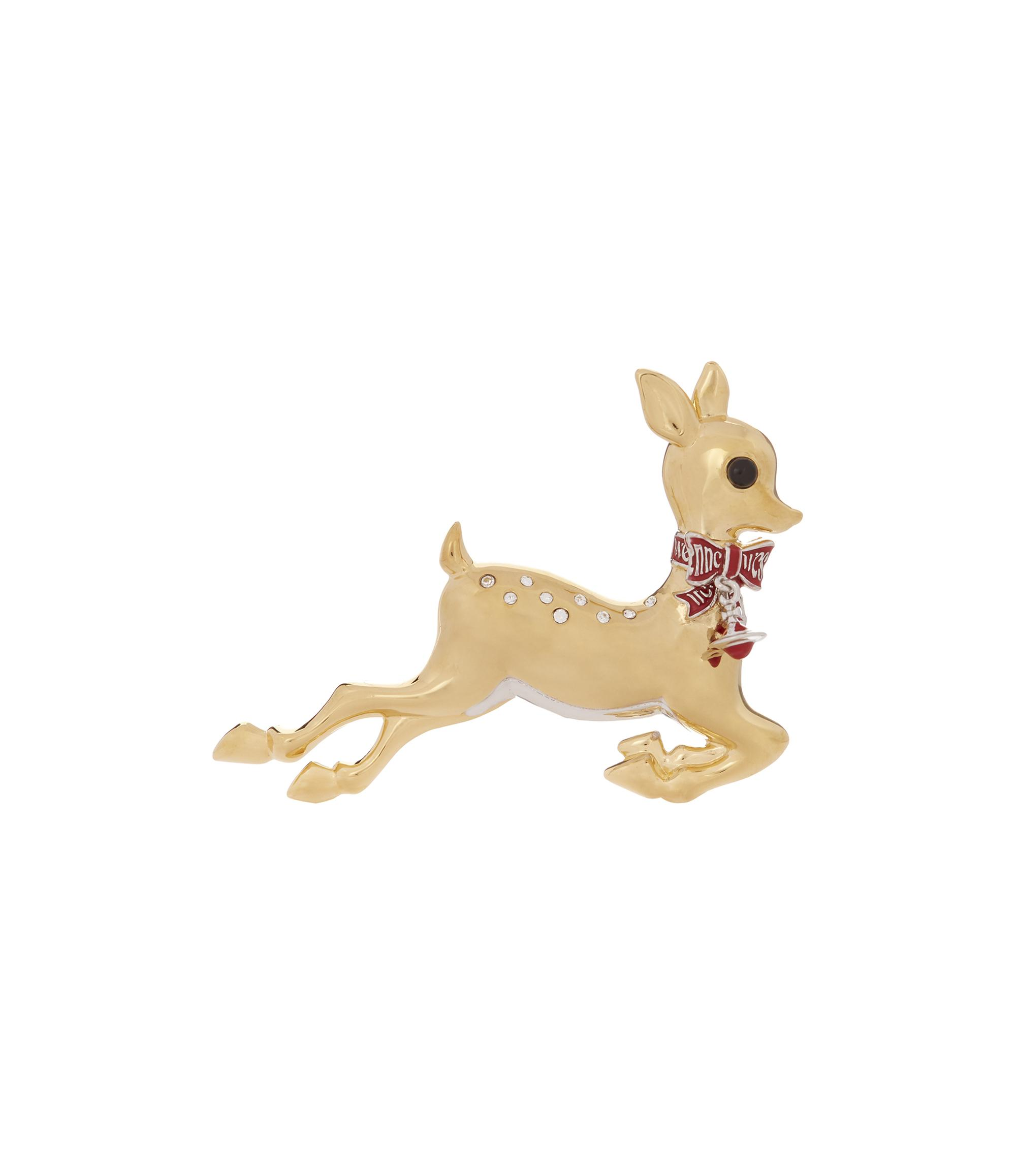 0e735ad440 Vivienne Westwood Deer Brooch Crystal/Red One Size | ModeSens