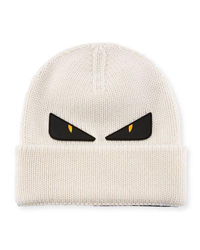 24cddff9933 Fendi Monster Eyes Wool Beanie In Multi