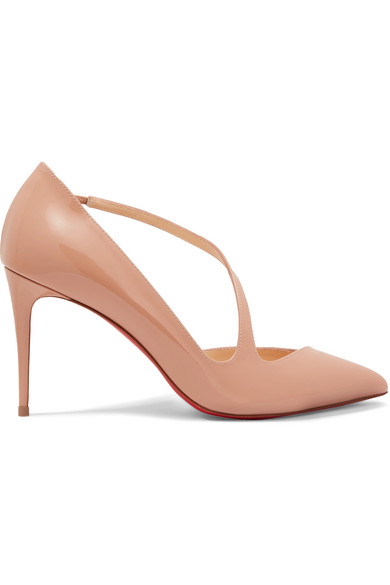 e8dc2bc49812 Christian Louboutin Jumping 85 Point Toe Patent Leather Pumps In Neutral