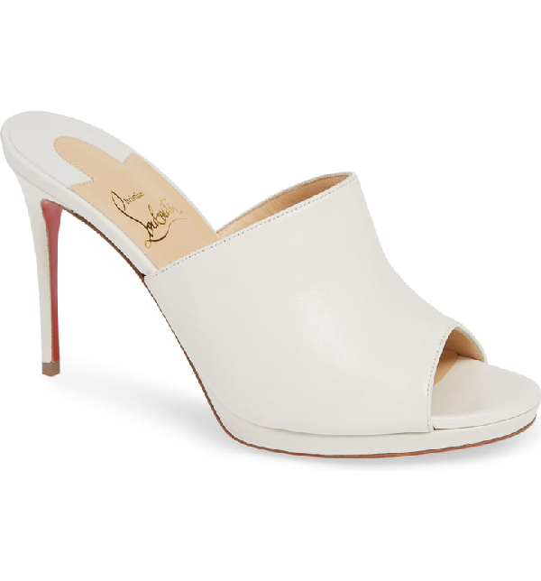 4dd40f1f0993 Christian Louboutin Pigamule 100 Leather Mules In White