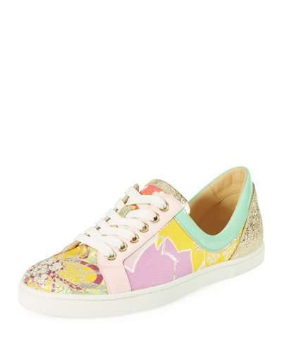 4353ea74db35 Christian Louboutin Flamingirl Printed Red Sole Sneaker In Multi ...