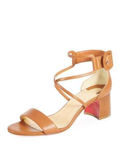 e4c0deb2896d Christian Louboutin Choca Ankle-Strap Sandals - Brown