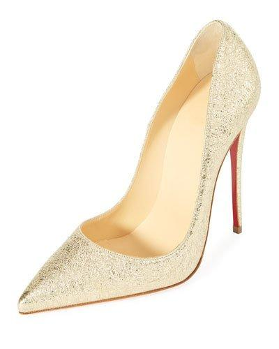 793a305465c So Kate 120Mm Metallic Red Sole Pumps in Platine