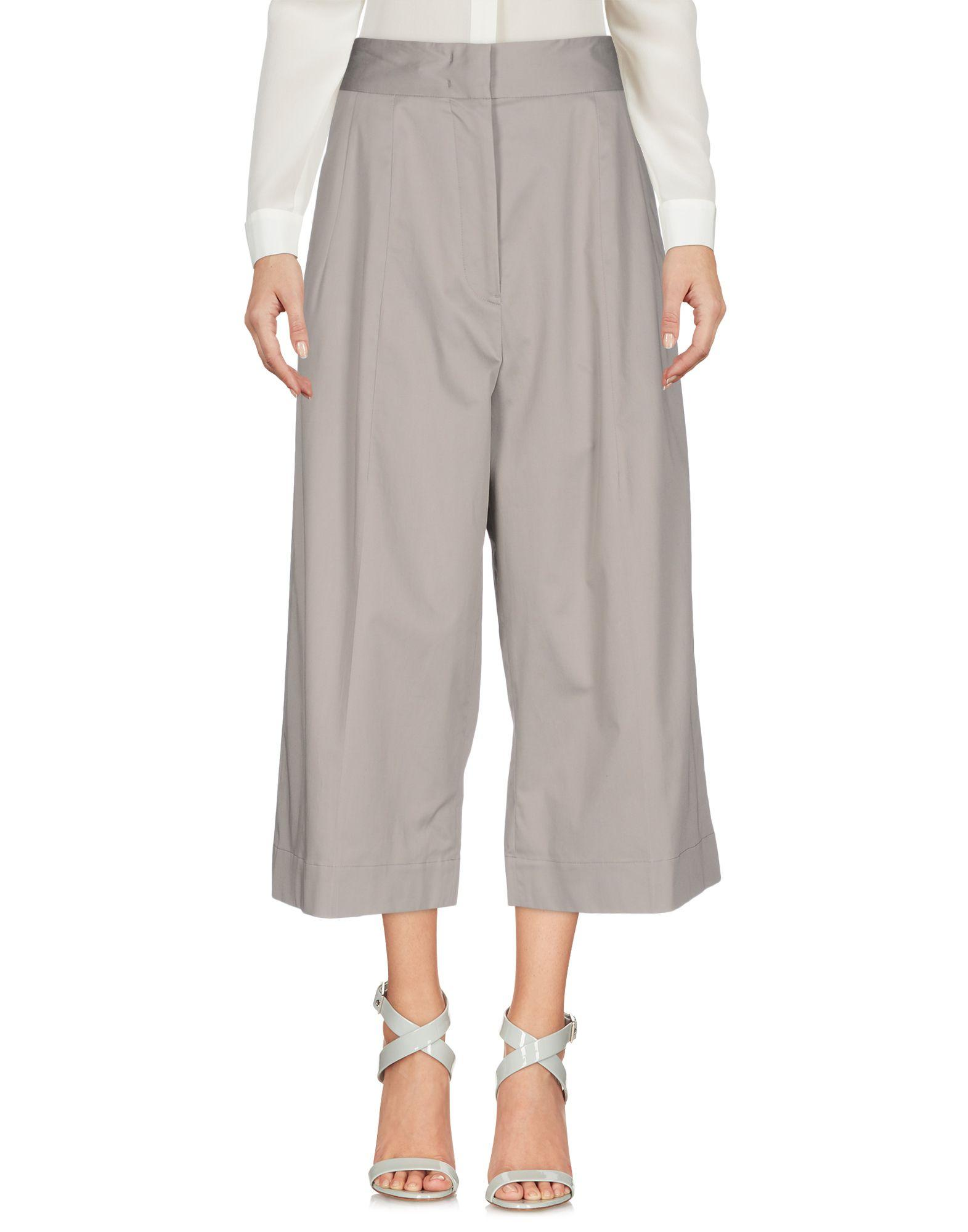Jil Sander Cropped Pants & Culottes In Grey