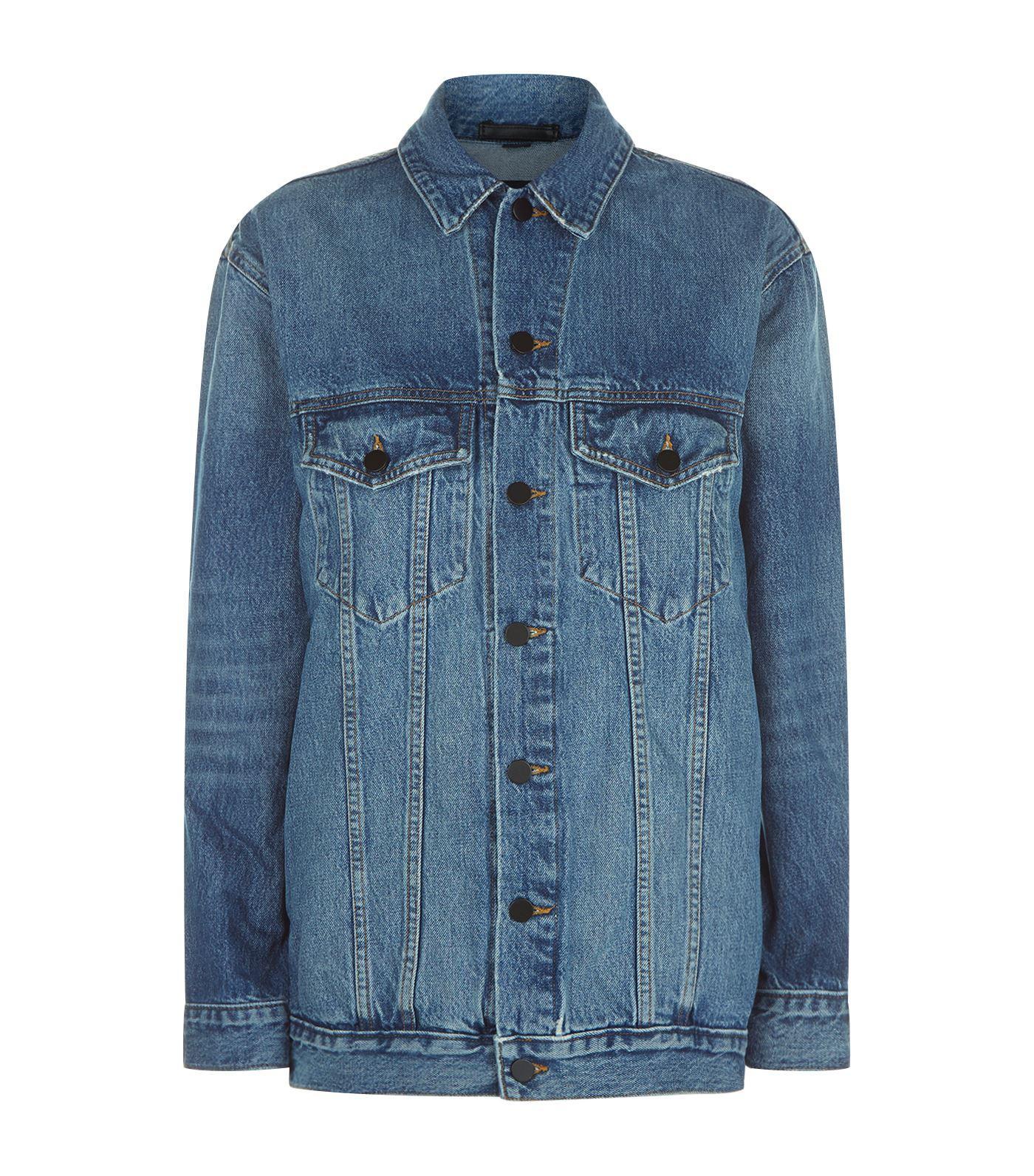 T By Alexander Wang Distressed Denim Jacket In Blue