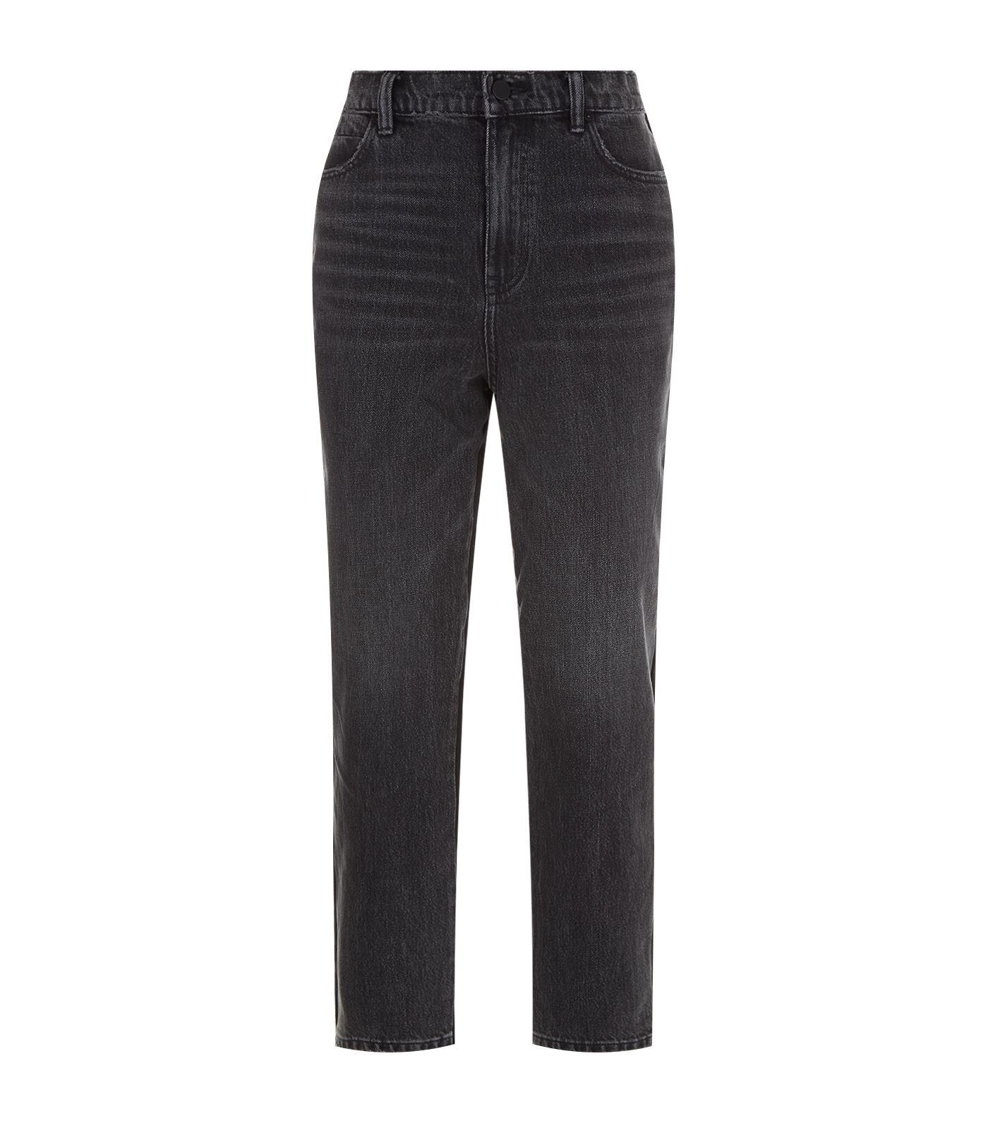 T By Alexander Wang Clash Denim Jeans In Grey