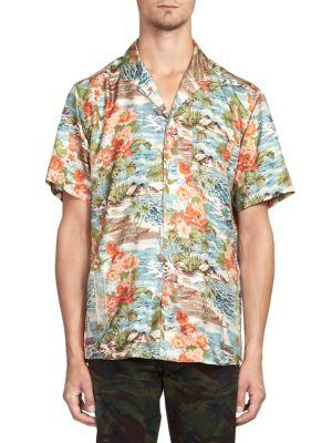 bd4fbf6636e720 Off-White Hawaiin Print Silk Button-Down Shirt In Multi   ModeSens