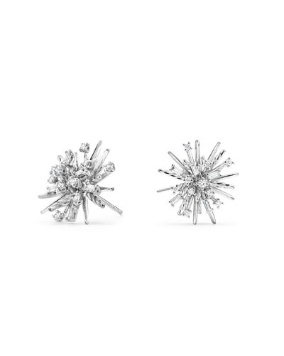 David Yurman Supernova Stud Earrings With Diamonds In 18K White Gold