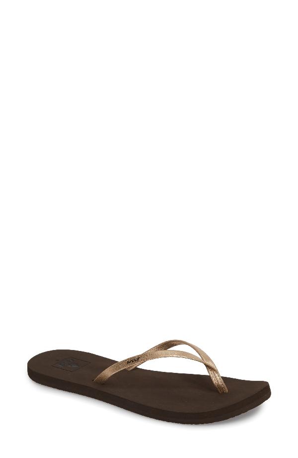 1200f0843 Reef Bliss Nights Flip-Flops Women's Shoes In Brown | ModeSens