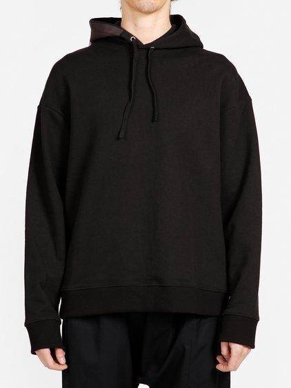 Raf Simons Cotton Hoodie In Black