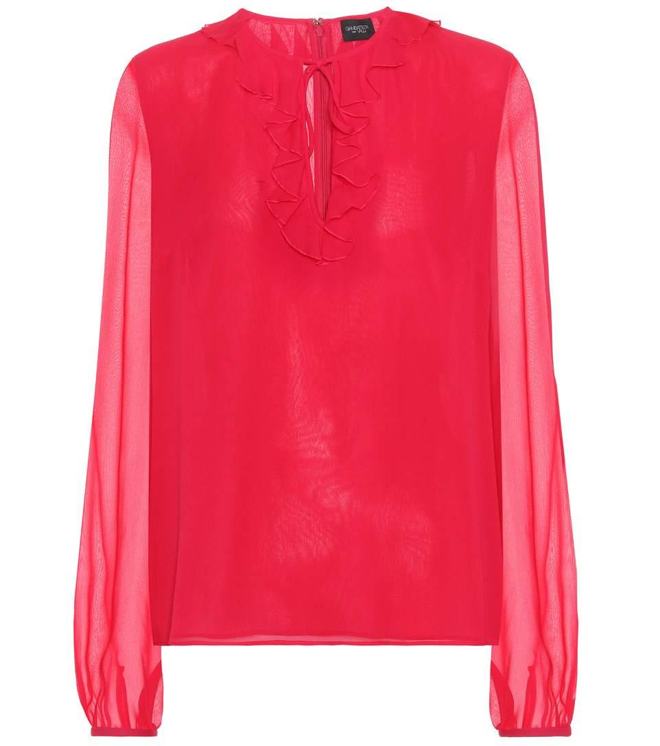 Giambattista Valli Silk Top In Pink