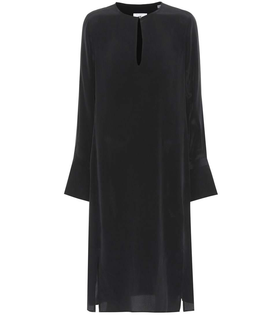 Equipment Granger Silk Dress In Black