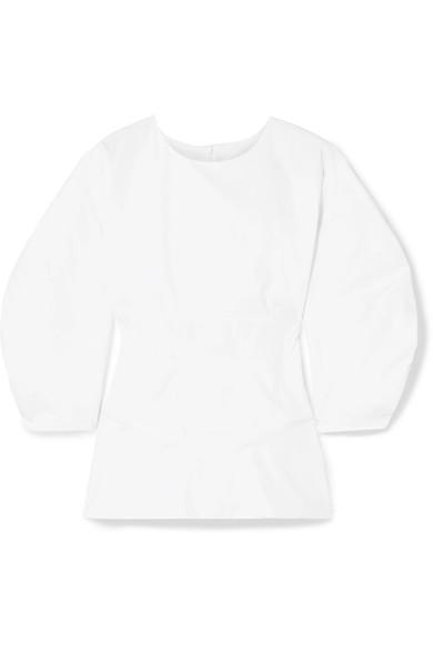 Paper London Sade Cotton-Poplin Blouse In White