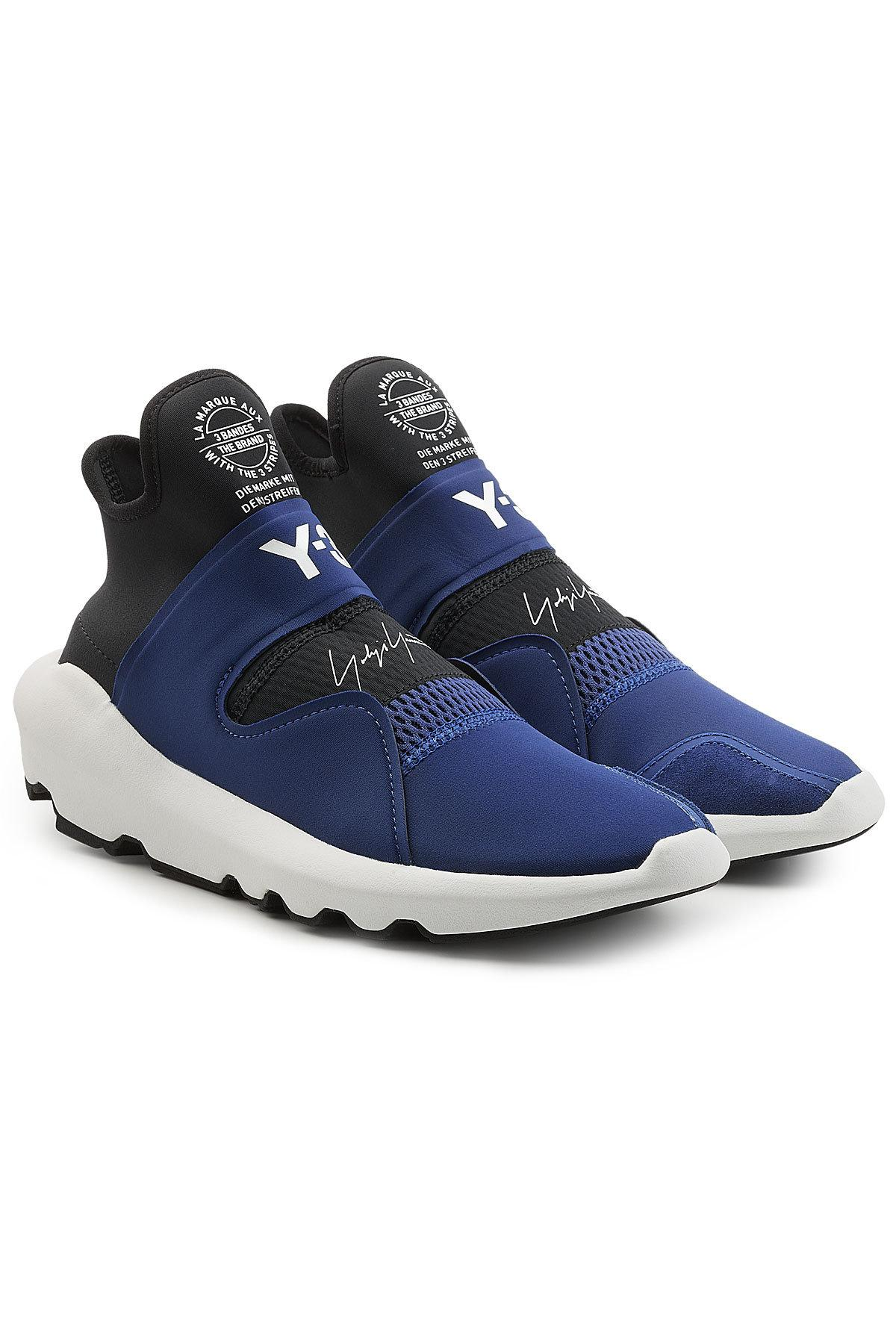 31c0d701f739 Y-3 Suberou Sneakers With Leather In Blue