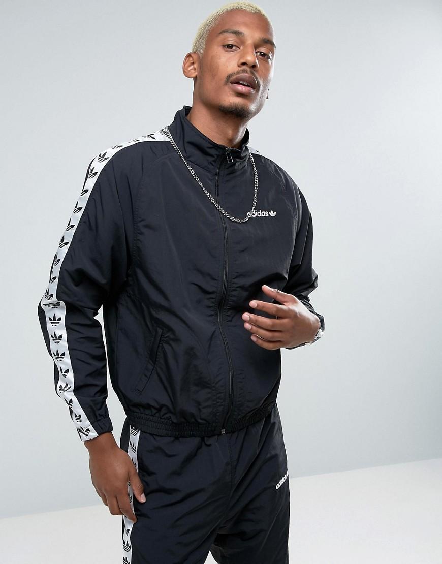 Adicolor Tnt Tape Wind Track Jacket In Black Br2290 Black