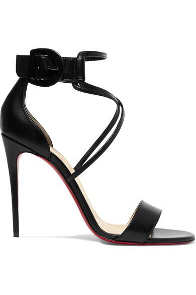 sports shoes e816a 25176 Choca 100 Black Leather Sandal