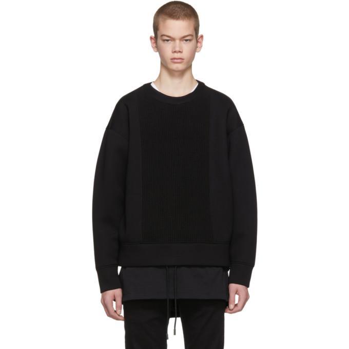Diesel Black Gold Black Scuba Knit Sweatshirt In 900 Black