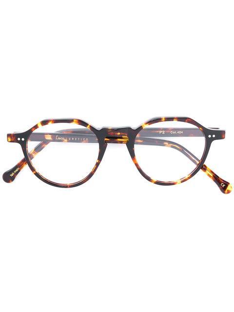 Lesca Tortoiseshell Round Frame Glasses