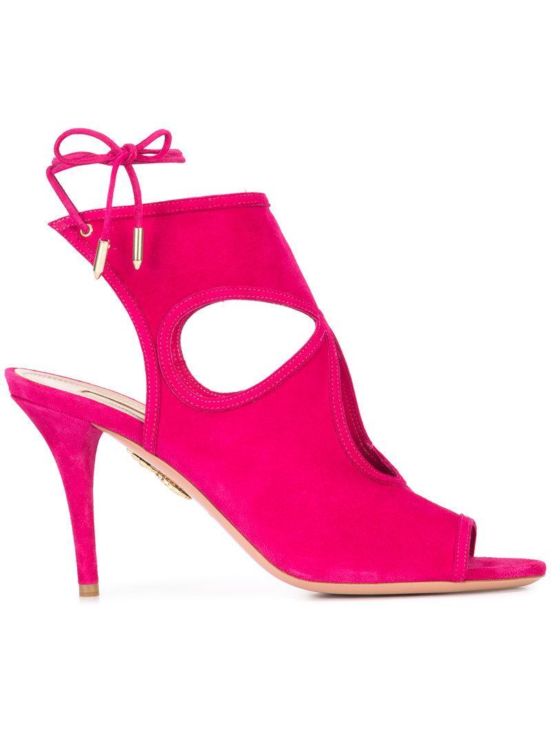 Aquazzura Sexy Thing 85 Sandals - Pink & Purple