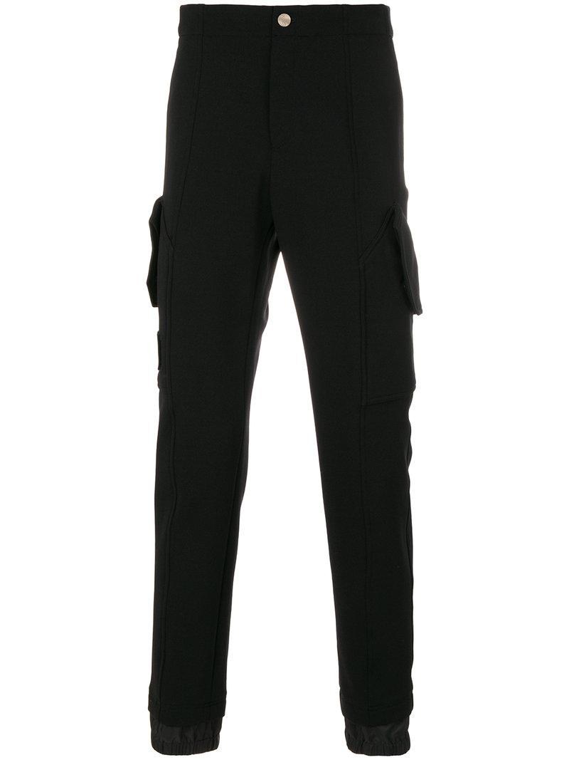 Versace Collection Piped Seam Detail Tracksuit Bottoms - Black