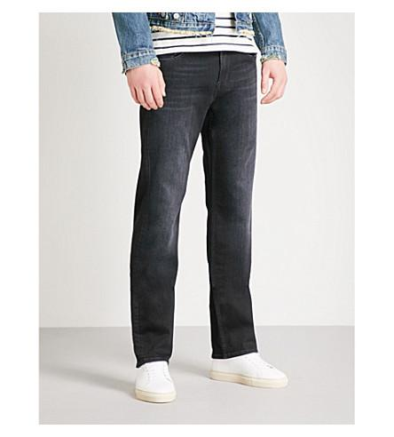 7 For All Mankind 标准 豪美 性能 直-适合 牛仔裤 In Washed Black