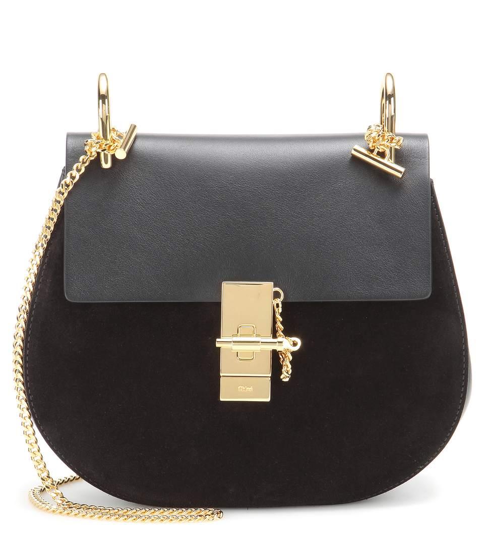 a500e157a4 Drew Medium Leather Saddle Crossbody Bag in Black