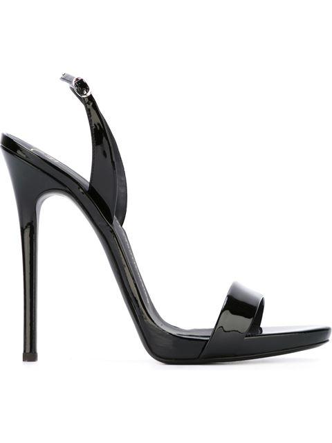 Giuseppe Zanotti Sophie Patent-leather Slingback Sandals In Black