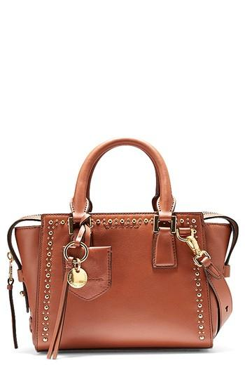 1e2fbca26da Cole Haan Marli Mini Leather Satchel - Brown In Brandy Brown Studding