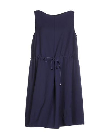 Emporio Armani Short Dress In Dark Blue