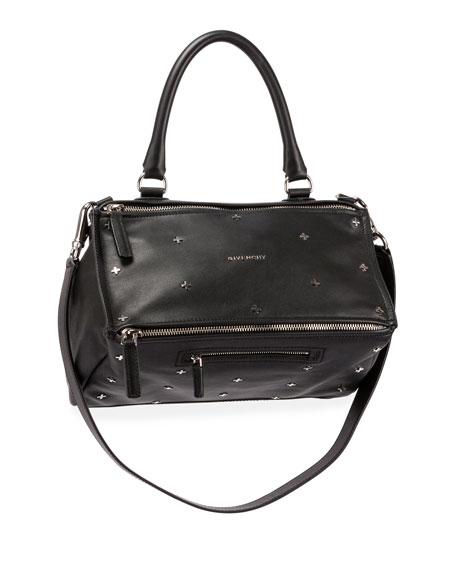 5789769a9df Givenchy Mini Pandora Shoulder Bag In Embellished Black Leather ...
