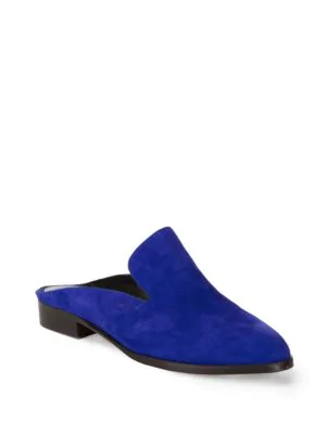Robert Clergerie Alice Suede Slides In Klein
