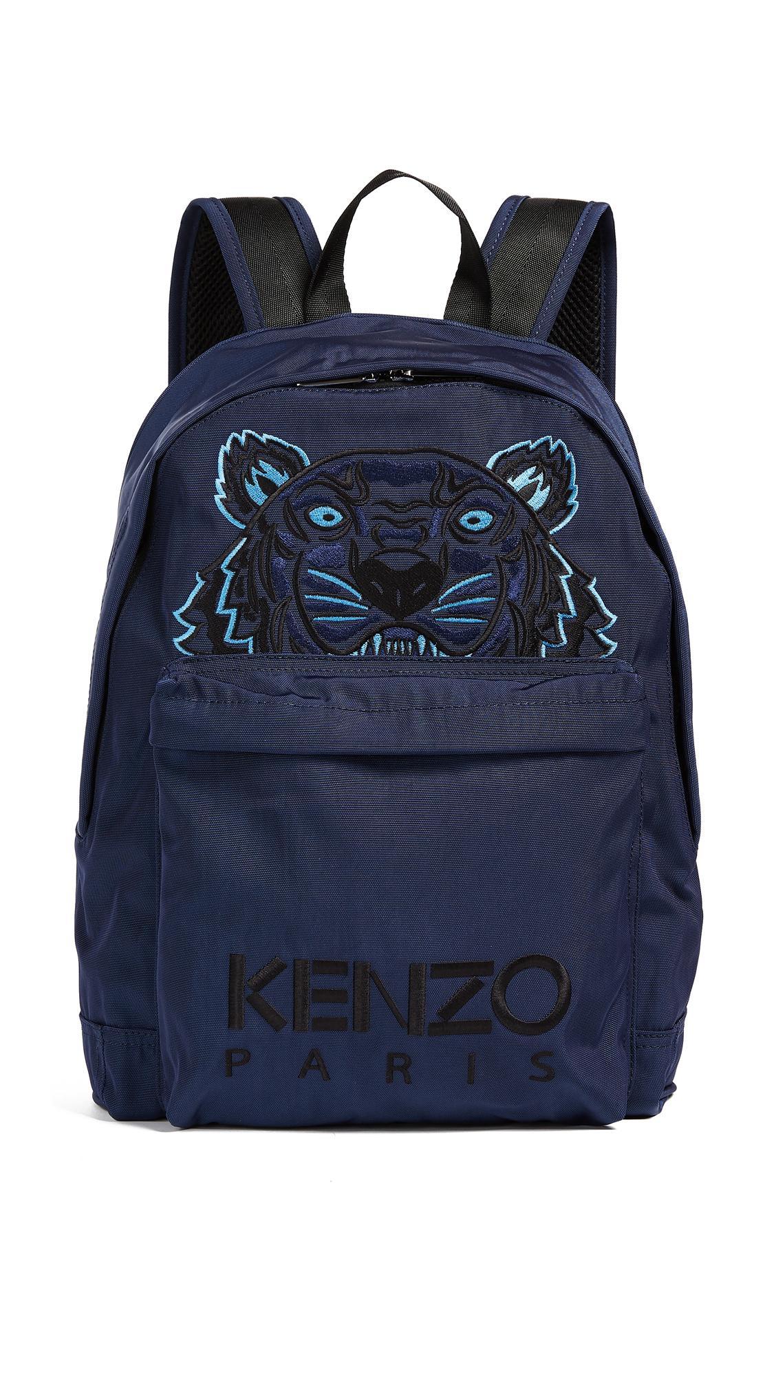 Kenzo Kanvas Tiger Backpack In Navy