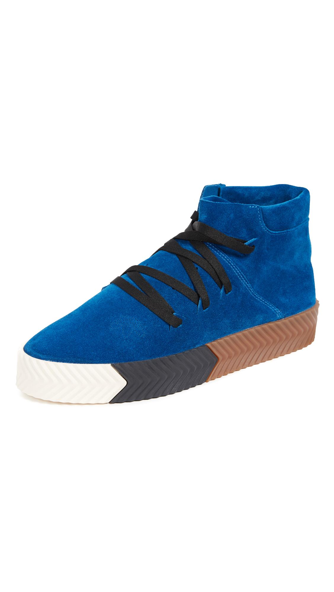 the best attitude 88a6c 1b0ba Adidas Originals By Alexander Wang Aw Skate Mid Sneakers In Bluebird