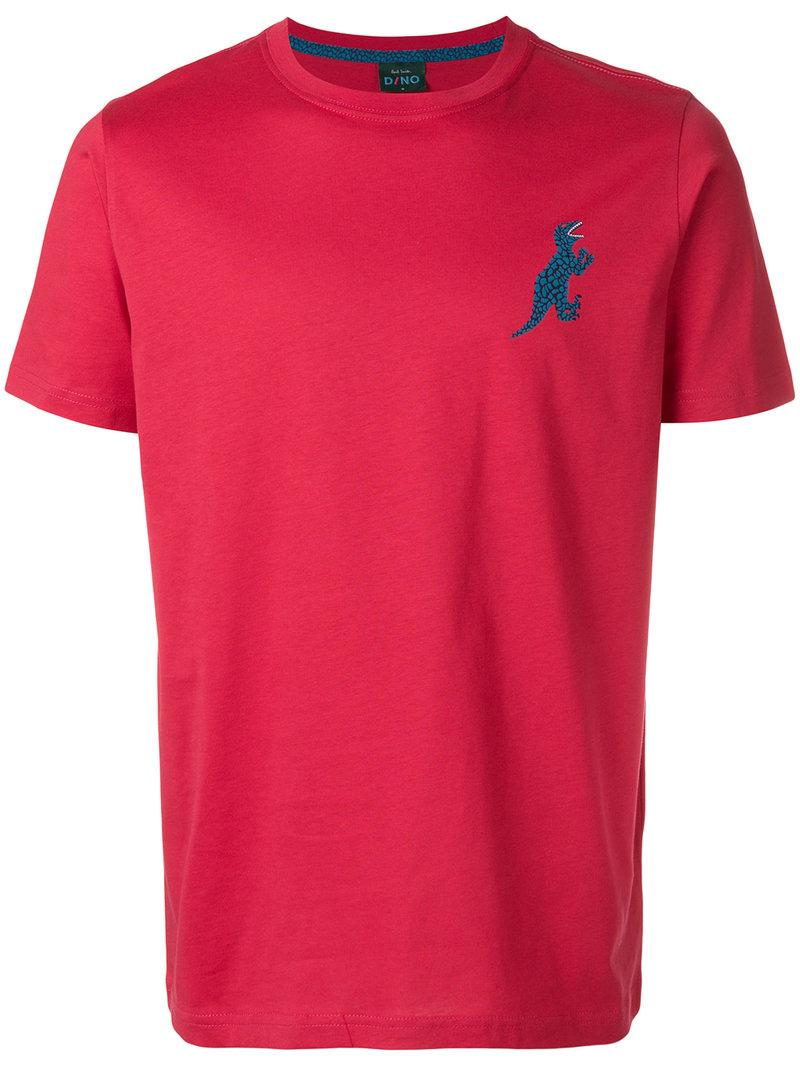 Paul Smith Dino Print T-Shirt In Red