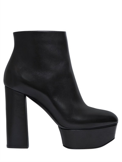 Casadei 140Mm Leather Ankle Boots, Black